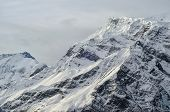 picture of tragic  - snowy peak of Himalaya mountain under tragic evening sky - JPG