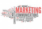 stock photo of encoding  - Word Cloud with Marketing Communications related tags - JPG