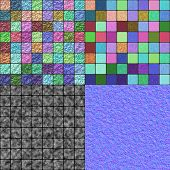 foto of diffusion  - Glazed tiles seamless generated texture  - JPG