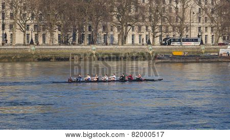 Rowers On The River Thames