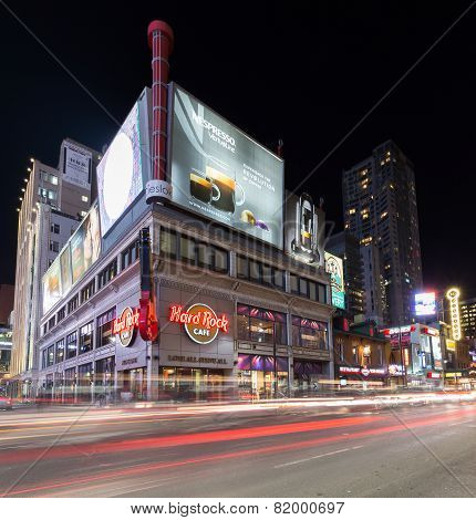 Yonge Street Toronto At Night