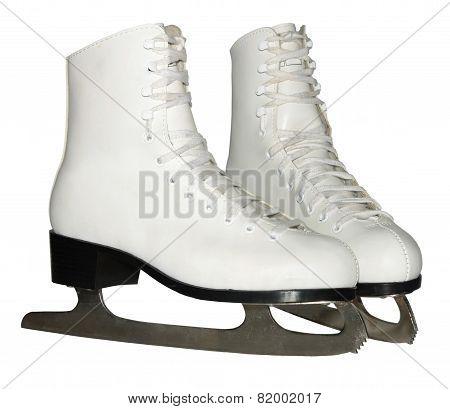 Figure skates isolated on white