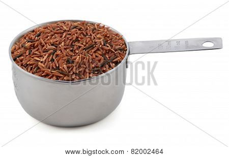 Camargue Red Rice Grains In A Cup Measure