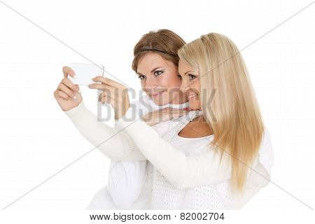 Young  Women With A Mobile Phone.