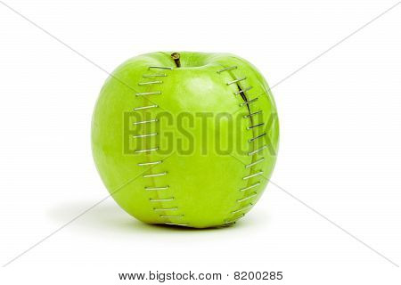 Stapled Green Apple