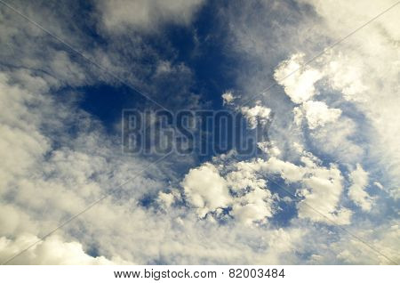 Daytime cloudy sky