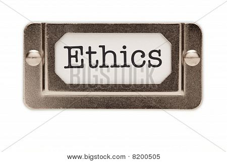 Ethics File Drawer Label