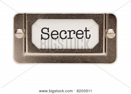 Secret File Drawer Label