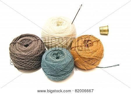 Thimble And Balls Of Yarn