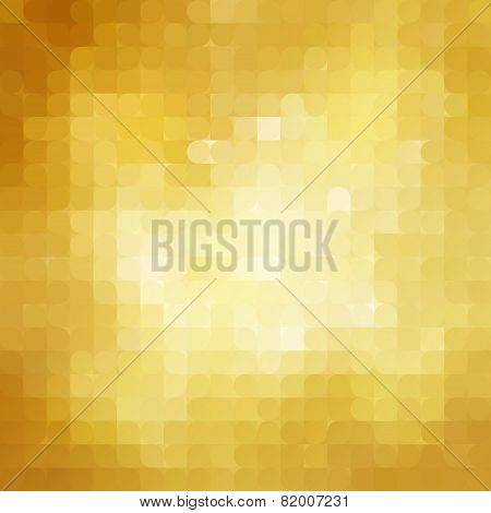Abstract retro gold mosaic background