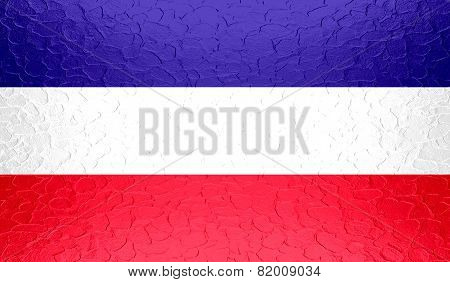 Los Altos flag on metallic metal texture