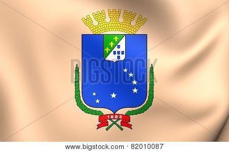Flag Of Sao Luis, Brazil.