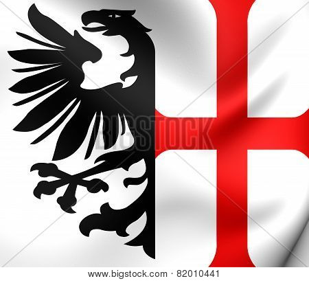 Free Imperial City Of Memmingen Flag, Holy Roman Empire.
