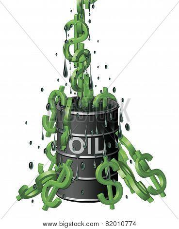 Oil Barrel Of Dollars