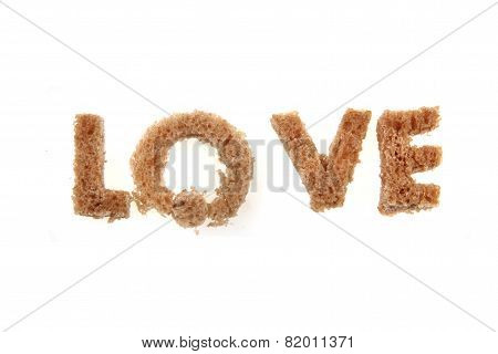 Love From Bread Alphabet