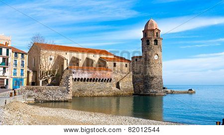 The church at Collioure, Southern France