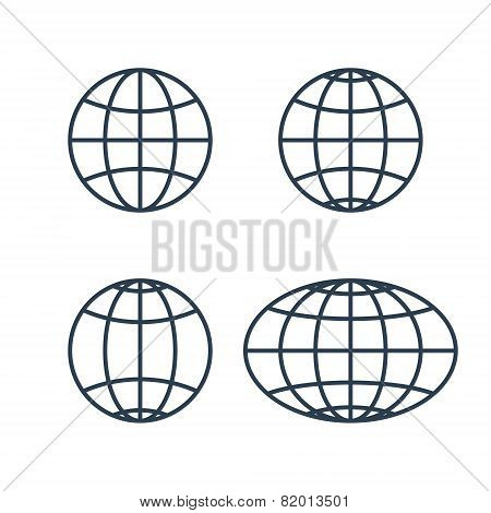 Globe Earth World Icons