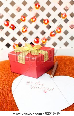 Valentine's Day Gift Box With Love Message. Romantic Surprise.