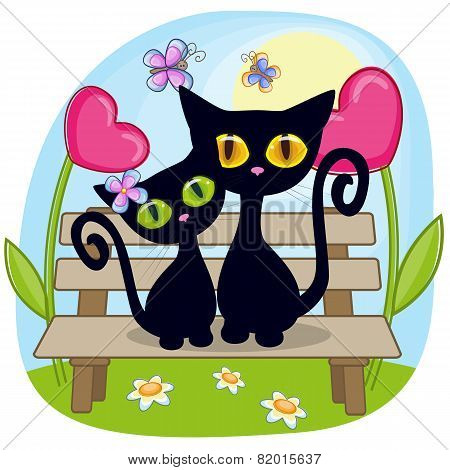 Lovers Black Kittens