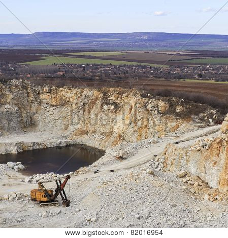 Digged Quarry In The Fields Of Nature