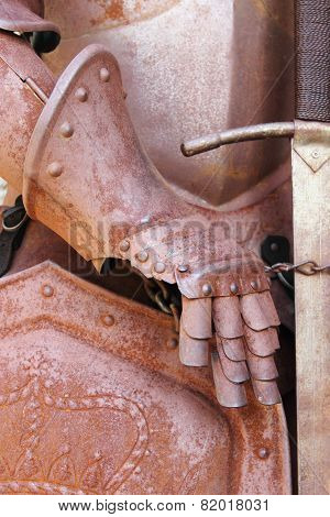 Gauntlet of a medieval armor
