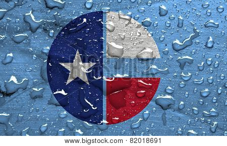 flag of Collin County with rain drops