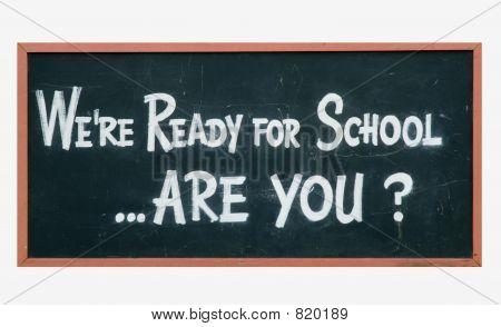 School blackboard sign