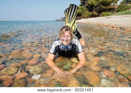 Smiling Snorkeler
