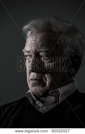 Portrait Of Aged Man
