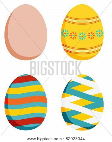 Set Of 4 Easter Eggs