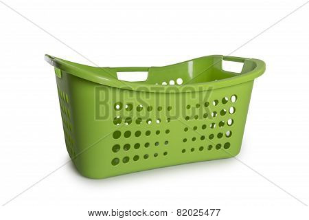 Green Laundry Basket