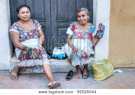 Traditional Women In Valladolid