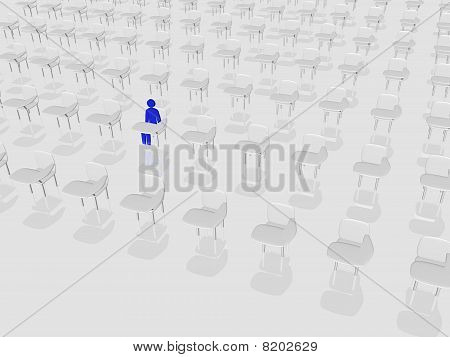 Lonely Student In Class