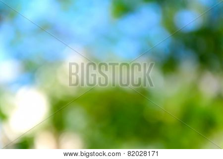 Abstract Blue and Green Bokeh Background
