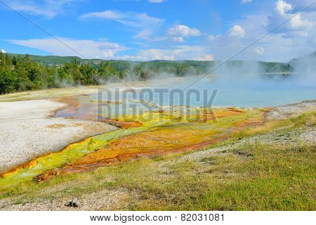 Midway Geyser Basin In Yellowstone National Park, Wyoming