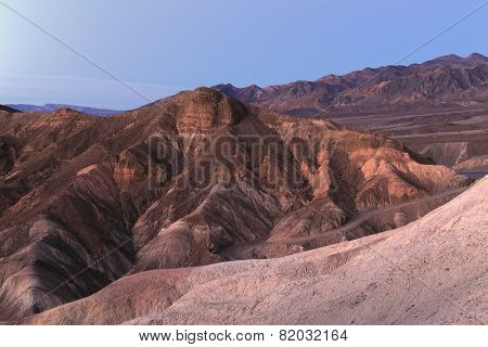 Zabriskie Point erosional landscape