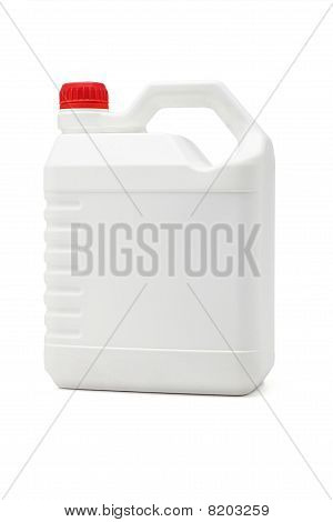 White Plastic Lubrication Oil Container