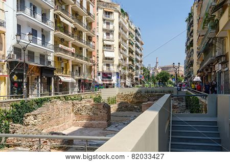 Greece, Thessaloniki. The Excavations Of The Palace Of The Roman Emperor Galerius (iii Century)