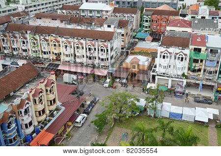 Phuket,TH-Sept,24 2014:Top view of Karon on a cloudy day in Phuket, Th