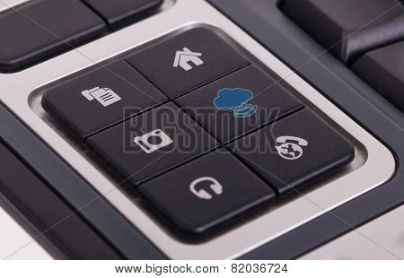 Buttons On A Keyboard - Cloud