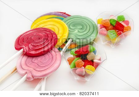 Several Sweet Lollipops