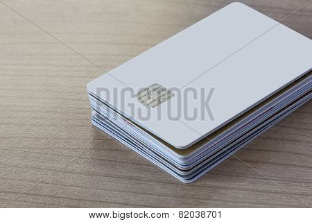 Batch Of Credit Or Debit Card On A Table