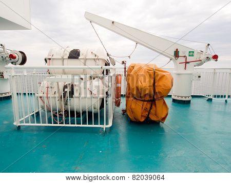 Davit and Life rafts