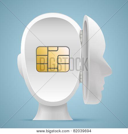 Sim card in an open mind