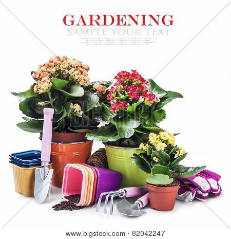 Garden Tools With Flowers