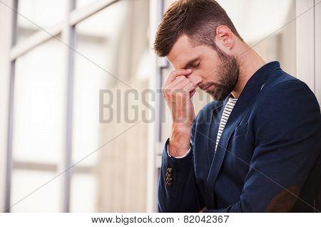 Depressed Man.