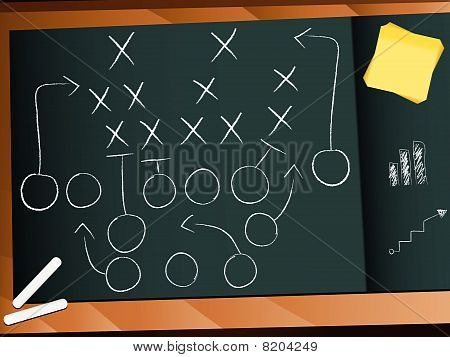 Vector - Teamwork Football Game Plan Strategy