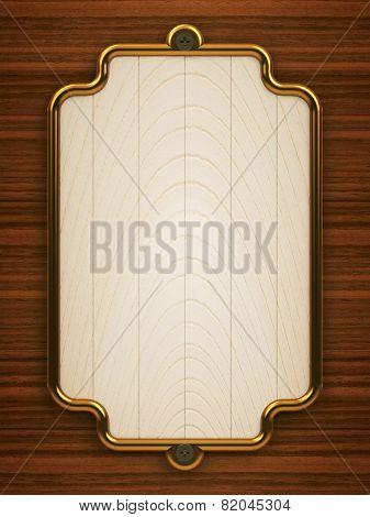 Wooden Doorplate Vertical