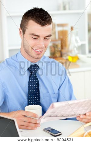Good-looking Man Reading A Book