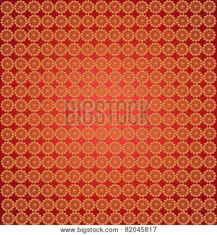 Wall-papers With Abstract Golden Patterns